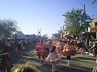 Bailarines en la Fiesta de La Tirana, principal celebración religiosa del norte del país