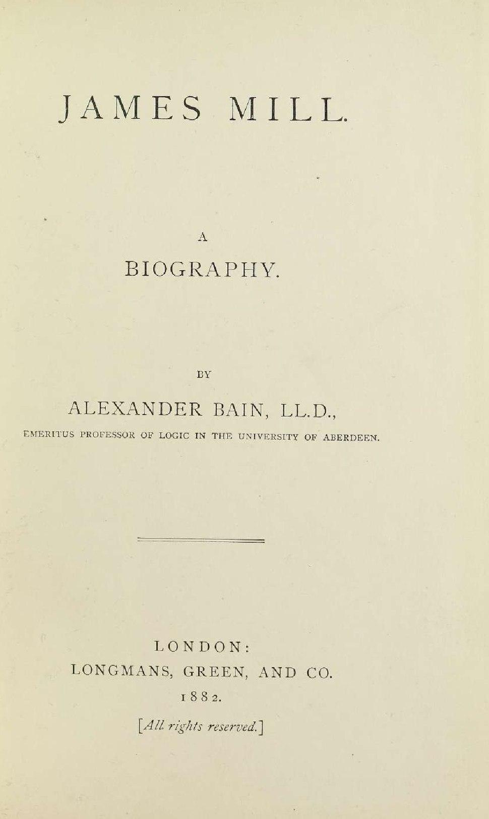Bain - James Mill, 1882 - 5825460