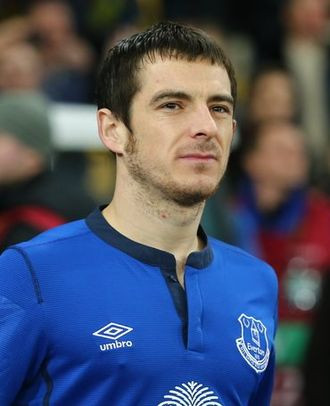 Leighton Baines - Baines playing for Everton in 2015