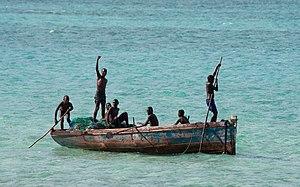 Memba Bay - Fishermen in Memba Bay.