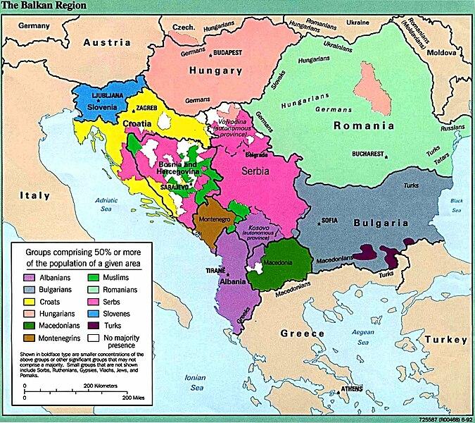 File:Balkans ethnic map (1992).jpg - Wikimedia Commons