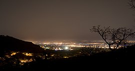 Bamako night hills may 2007.jpg