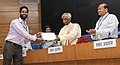 Bandaru Dattatreya awarding e-certificates from the first set of e-certificates generated from portal for candidates, at the launch of the Digital India Initiative NCVT-MIS Portal, in New Delhi. The Secretary (1).jpg