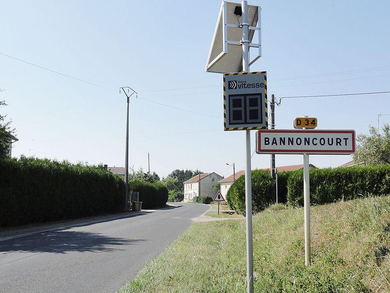 Bannoncourt (Meuse) city limit sign