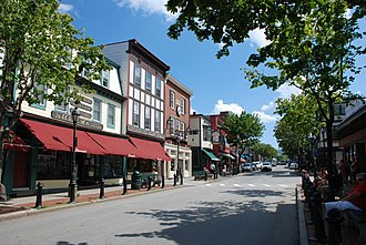 Bar Harbor, Maine - Main Street in Bar Harbor (2010)