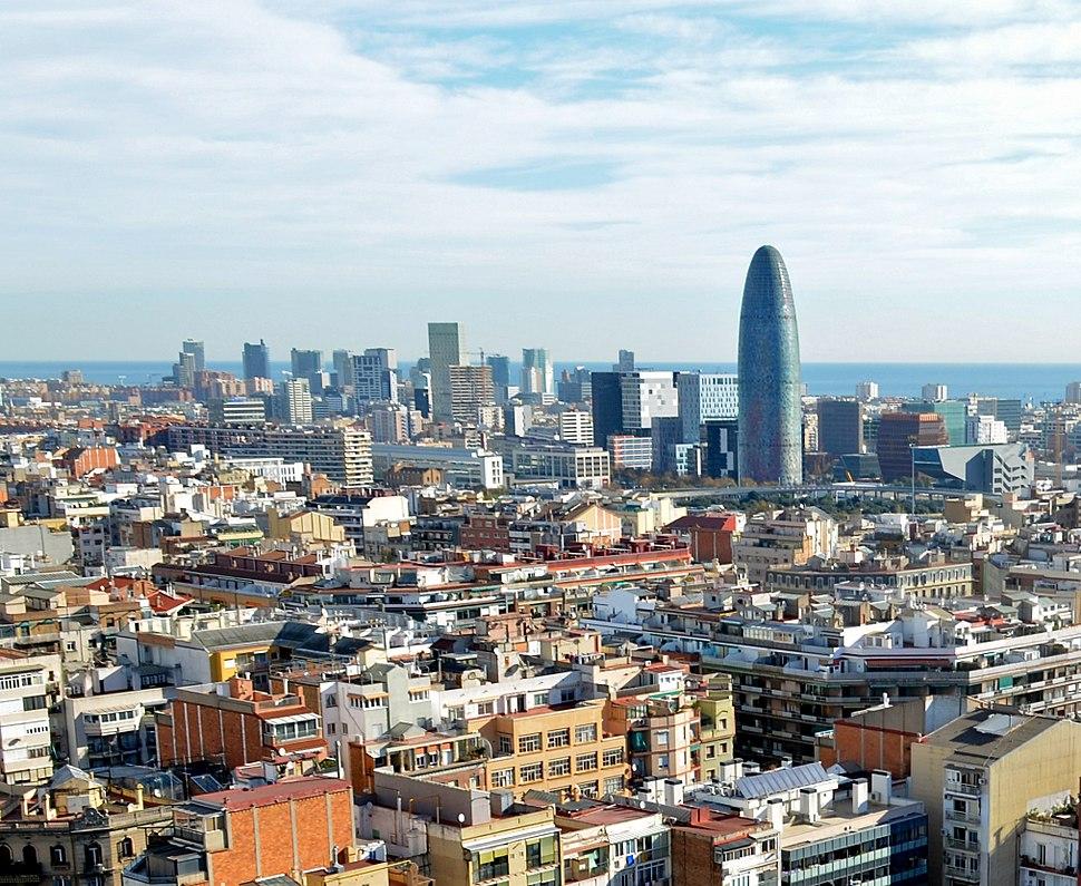 Barcelona from Sagrada Familia (2)