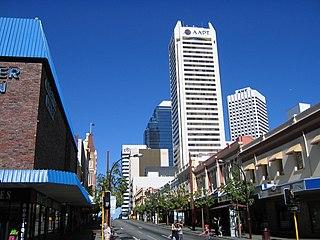 Barrack Street street in CBD of Perth, Western Australia