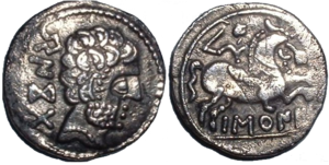 Vascones - A coin with BARSCUNES in Iberian script. It has been proposed that the word is related to Vascones.