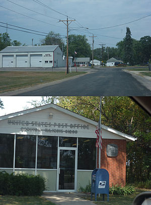 Barstow, Illinois - Barstow Fire Station and Post Office