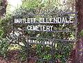 Bartlett-Ellendale Cemetery Bartlett TN sign 2.jpg