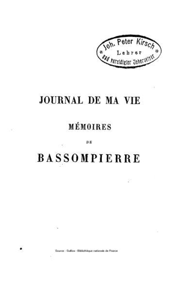 File:Bassompierre - Journal de ma vie, 1.djvu