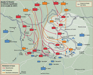 1st Mixed Brigade - Image: Batalla Brunete 1