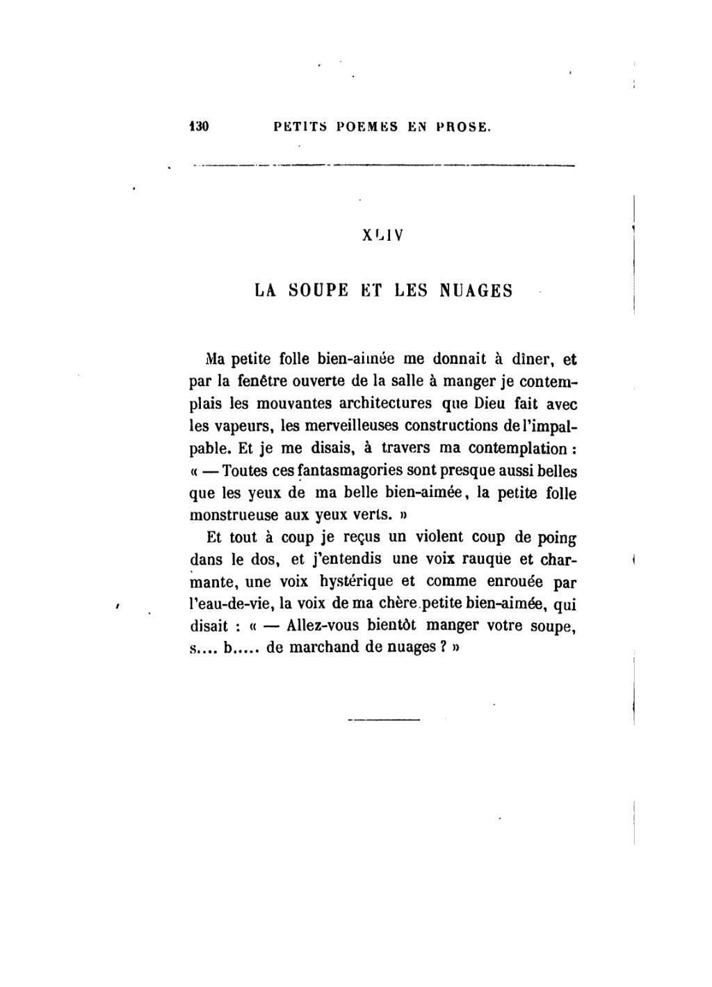 Page baudelaire petits po mes en prose wikisource - Coup de poing dans le dos ...