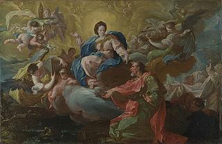 Saint Jean visité par la Vierge