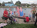 Bayou St John 4th of July 2013 Kolossos Canoe Pram.JPG