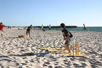 live cricket-beach cricket