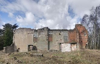 Beaudesert (house) - The south wall of the Great Hall