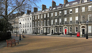 Bedford Square - The north side of Bedford Square, viewed from near the north-east corner