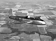 Beechcraft Model 73 Jet Mentor in flight c1956