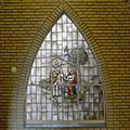 Begane grond, glas-in-lood raam met religieuze voorstelling - Rosmalen - 20332322 - RCE.jpg