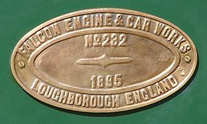 South African Class NG6 4-4-0 - Falcon works plate
