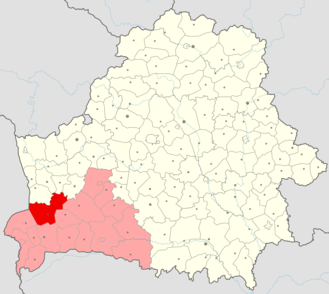 Pruzhany District - Location within the region