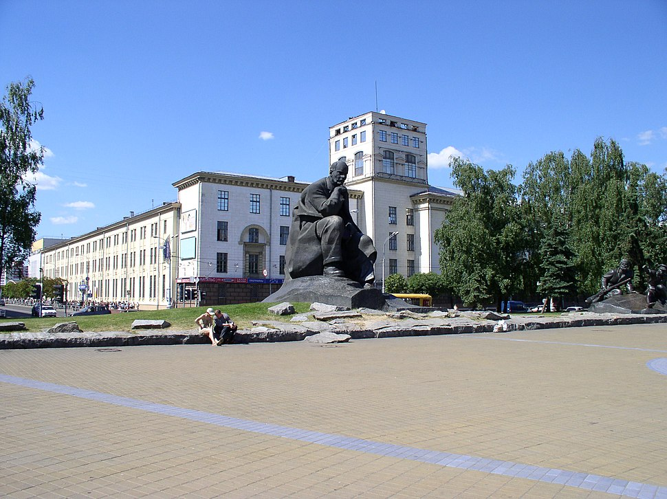 Belarus-Minsk-Yakub Kolas Square-2