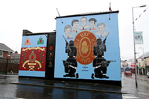Ulster Volunteer Force - A UVF mural on the Shankill Road