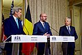 Belgian Prime Minister Michel, With Secretary Kerry and Belgian Foreign Minister Reynders, Delivers a Statement to the Media in Brussels (25752307620).jpg