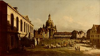 New Market Place in Dresden