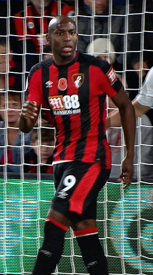 Benik Afobe - Afobe playing for Bournemouth in 2017