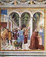 Benozzo Gozzoli - Arrival of St Augustine in Milan (scene 8, north wall) - WGA10300.jpg