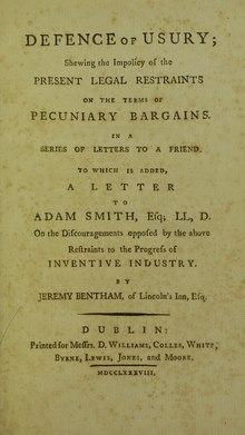 Defence of usury, 1788