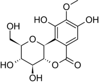 Chemical structure of bergenin