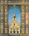 Bern Heiliggeistkirche Südfassade um 1729.jpg