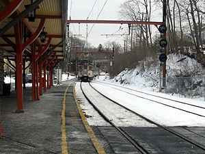 Bernardsville, New Jersey - A train at the Bernardsville Station