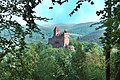 """Berwartstein (Erlenbach bei Dahn), view from """"Klein-Frankreich"""" to the castle.jpg"""