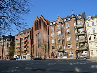 Åboulevard - Åboulevard's north side with the Bethlehem Church