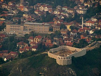 Bijela Tabija - Image: Bijela tabija seen from Trebević mountain 2010