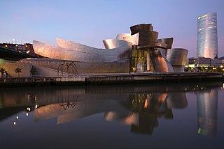 Art museum in Bilbao, Spain