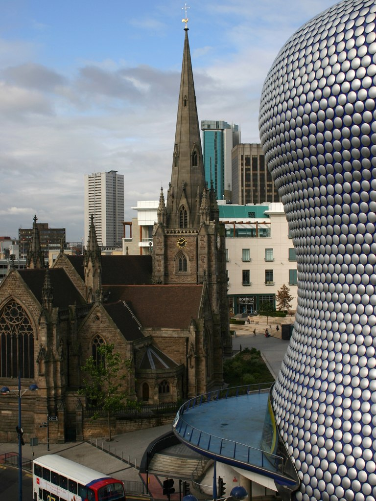 St Martin's church and Selfridges department store in the Bull Ring