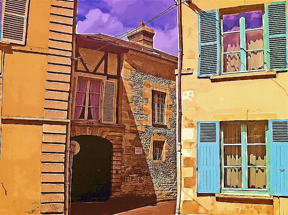Birthplace of André Mare (1885- 1935) Painter decorator. cofounder with Louis SUE de la Compagnie the Arts Françaisue de Prison