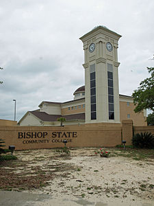 Bishop State clock tower May 2012.jpg