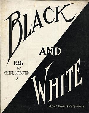 Black and White Rag - Image: Black And White Rag 1908