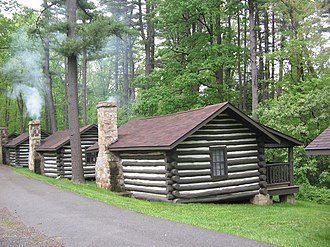 Black Moshannon State Park Historic Districts - Rustic cabins 9, 10, and 11 have two rooms each and are part of the Family Cabin District.
