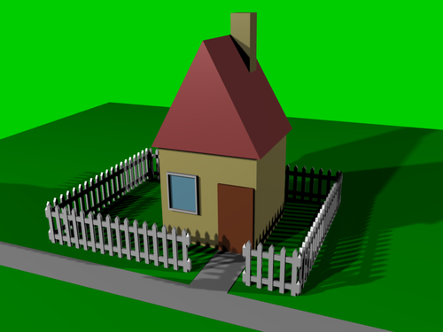 Blender 3d noob to pro building a house wikibooks open for 3d house model maker