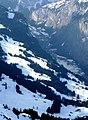 Blick auf das Lauberhornrennen Wengen (Zieleinlauf) - panoramio.jpg