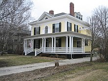 The David Davis III & IV House in Bloomington, Illinois, is another example of a property in a local historic district that is also listed on the federal National Register of Historic Places. Bloomington Il David Davis III & IV House1.JPG