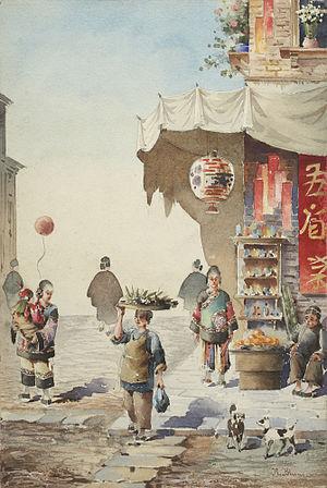 Robert Frederick Blum - Image: Blum, Robert Frederick, Chinese street scene, after 1890