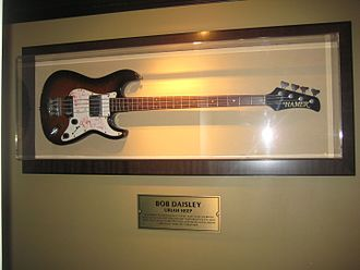 Bob Daisley - Bob Daisley's Hamer bass in Hard Rock Cafe Prague, 2011